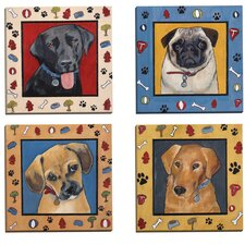 Dog Dreams I by Tara Gamel 4 Piece Graphic Art on Wrapped Canvas Set