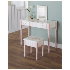 Bouquet Vanity Table & Stool Set