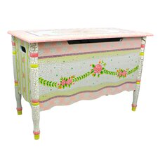 Crackled Rose Toy Chest
