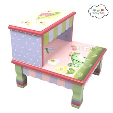 Magic Garden 2-Step MDF Step Stool with 200 lb. Load Capacity