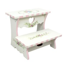 Bouquet 2-Step MDF Step Stool with 200 lb. Load Capacity