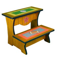 Little Sports Fan 2-Step MDF Step Stool with 200 lb. Load Capacity