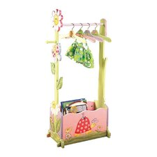 Magic Garden Dress-Up Valet Rack with Set of 4 Hangers