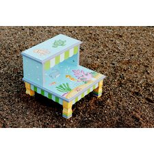 Under The Sea 2-Step MDF Step Stool with 200 lb. Load Capacity