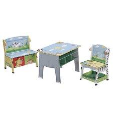 Sunny Safari Kids Desk, Chair and Bench Set