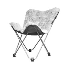 Rock Your Room Faux Fur Frosted Butterfly Lounge Chair