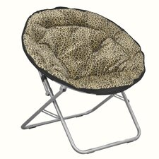 Urban Shop Leopard Animal Faux Fur Saucer Papasam Chair
