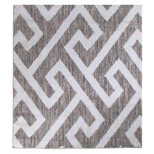 Gray & White Area Rug