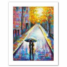 'Paris Back Street Magic' Painting Print on Canvas