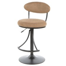 Lilly Adjustable Height Swivel Bar Stool with Cushion