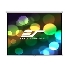 Elite Screens Manual B Series, 100-inch 1:1, Overhead Pull Down Projection Manual Projector Screen with Auto Lock, M100S