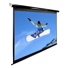 Spectrum Series Motorized Matte White Electric Drop Down Projection Screen
