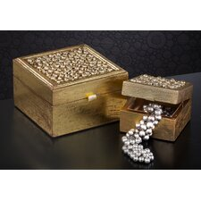 2 Piece Wooden Jewelry Box Set