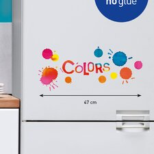 Color Splatter Windows and Appliance Decal