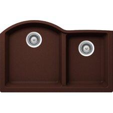 "Inspire 31"" x 19.88"" Cristalite 70/30 Undermount Double Bowl Kitchen Sink"