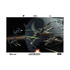 Star Wars Space Battle Wall Mural
