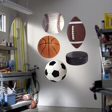 Assorted Sports Ball Wall Decal