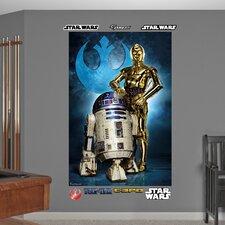 Star Wars R2-D2 & C-3PO Wall Mural