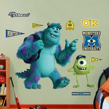 Disney Monsters University Mike and Sulley Wall Decal