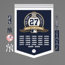 MLB New York Yankees World Series Championship Banner Wall Decal
