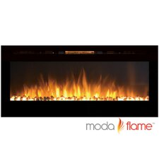 Cynergy Pebble Stone Built-In Wall Mounted Electric Fireplace