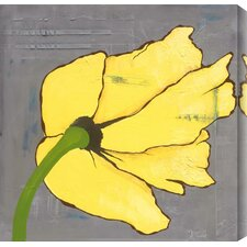 Poppies I by Laura Gunn Painting Print Canvas in Yellow