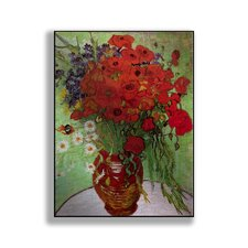 Classics 'Still Life - Red Poppies and Daisies' by Vincent Van Gogh Painting Print on Metal