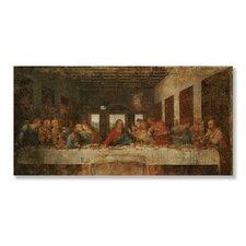Classics 'The Last Supper' by Leonardo Da Vinci Painting Print on Wood