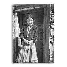 'Navajo Girl, Canyon de Chelle, Arizona' by Ansel Adams Photographic Print on Wrapped Canvas
