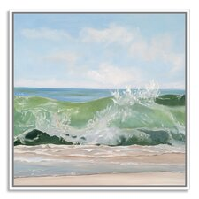 Green Glass by Casey Chalem Anderson Framed Painting Print on Canvas
