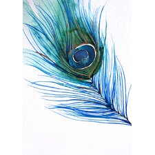 Peacock Feather by Christine Lindstrom Painting Print