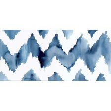 """Ikat Chevron"" by Christine Lindstrom Painting Print"