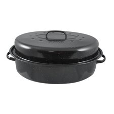 "15"" Non-Stick Carbon Steel Roaster with Lid"