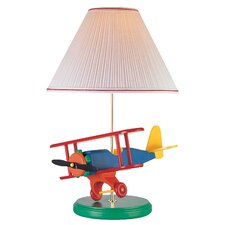 "Airplane Toy 22"" H Table Lamp with Empire Shade"