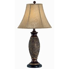 """Gentry 31"""" H Table Lamp with Bell Shade"""