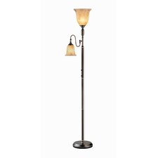 Torchiere Reading Floor Lamp and Glass