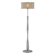 Optiska Floor Lamp with Optic Vinyl Shade