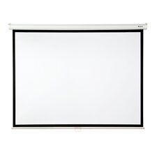 """Matte White 100"""" diagonal Manual Projector Screen with Slow Retraction"""