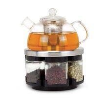 Infusions Large Glass Teapot Rack Set