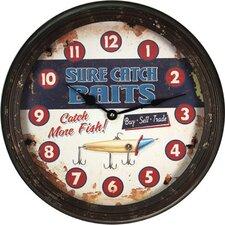 "15"" Rusty Metal Clock"