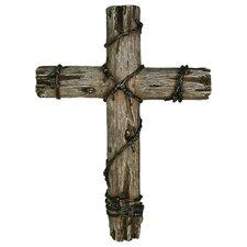"14"" Wooden Wire Cross Wall Decor"