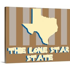 Texas State Nickname by Kate Lillyson Graphic Art on Wrapped Canvas