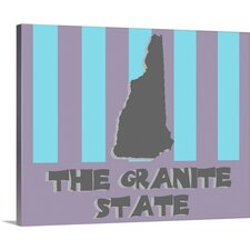 New Hampshire State Nickname by Kate Lillyson Graphic Art on Wrapped Canvas