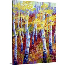 Autumn Gold by Marion Rose Painting Print on Wrapped Canvas