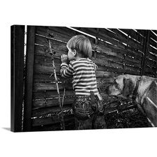 The World From Behind the Fence by Monika Strzelecka Photographic Print on Canvas