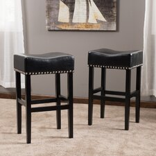 "Lisette 30.31"" Bar Stool with Cushion (Set of 2)"