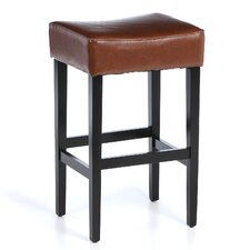 "George Backless 30.71"" Bar Stool with Cushion (Set of 2)"