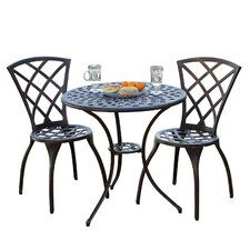 Enrique 3 Piece Bistro Set