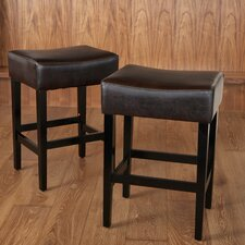 "Bonded 26.71"" Bar Stool with Cushion (Set of 2)"