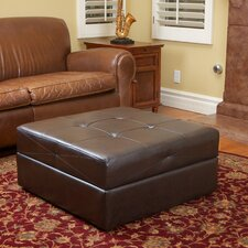 Maggio Leather Storage Ottoman